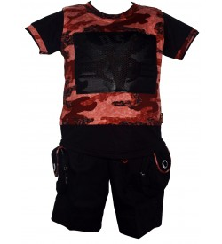 Lego Kids Wear Multi,Black Printed T-Shirt With Shorts For Kids Boys