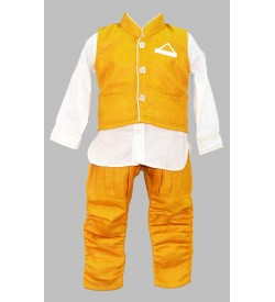 Jumpy Jumpy Mustard Coloured Kids boys Clothing Set