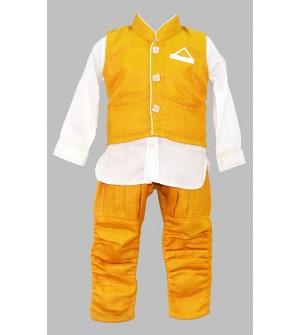 Jumpy Jumpy Mustard Coloured Kids boys Clothing Set