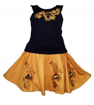 Jolly Dresses Blue,Sandal Kids Dresses For Girl's