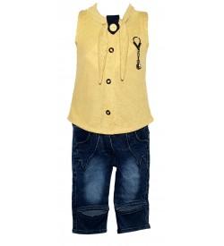 Jolly Dresses Sandal,Blue Colour Kids Dresses For Girl's