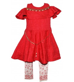 Ping Pong Collection Kids Girl's Red Coloured Dresses