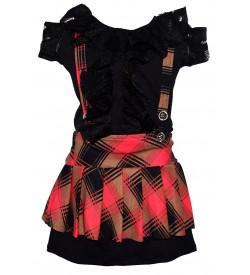 Jolly Dresses Black,Pink Colour Kids Dresses For Girl's
