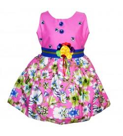Gulnar Kids Girl's Pink Coloured Frock Dresses - 2593
