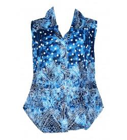 Apex BlueColoured Design Cotton Top For Kids Girl's - 2650