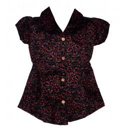 Apex Multi Coloured Flower Design Top For Kids Girl's - 2656