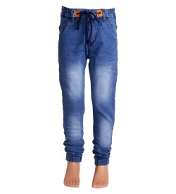 Joora Joggers Fit Boy's Light Blue Jeans