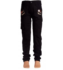 Little Kangaroo Black Colour Kid's Cargos