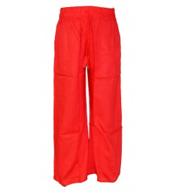Franco Girls Peach Colour Plain Palazzos