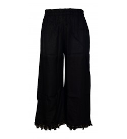 Franco Girls Black Colour Plain Palazzos