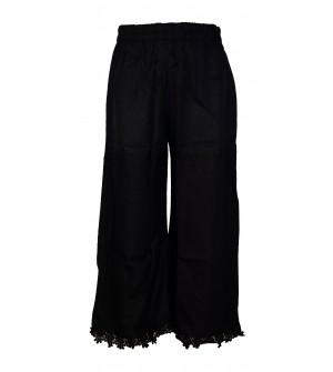 Franco Girls Black Colour Plain Palazzos