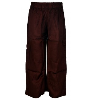 Franco Girls Brown Colour Plain Palazzos