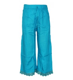Franco Girls Skyblue Colour Plain Palazzos