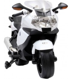 Officially licensed BMW K1300S 12V Rechargeable for kids (3 to 7 yrs) Bike Battery Operated Ride On  (White)