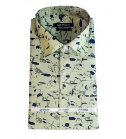 Leo Studios Cotton Smart Fit Full Sleeve Shirts For Mens (Green) Buy 1 Get 1 Free