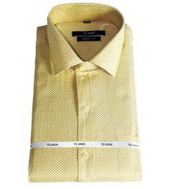 Leo Studios Cotton Smart Fit Full Sleeve Shirts For Mens (Sandal)