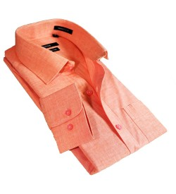 Fotos Karbon Filaphil Light Orange Smart Fit Formal Cotton Shirt For Men - 0074