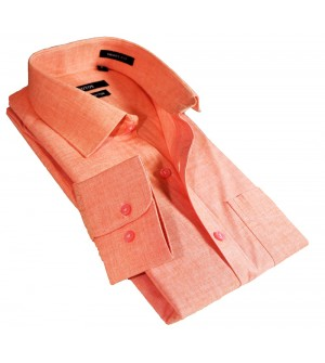 Fotos Karbon Filaphil Light Orange Smart Fit Formal Cotton Shirt For Men - 0074