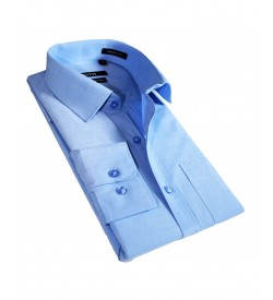 Fotos Karbon Filaphil Sky Blue Smart Fit Formal Cotton Shirt For Men - 0086