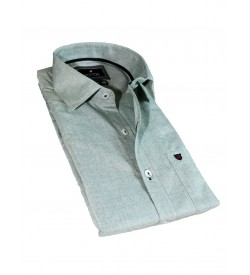 Fotos Karbon Filaphil Grey Melange Smart Fit Formal Cotton Shirt Full Sleeve For Men - 0092