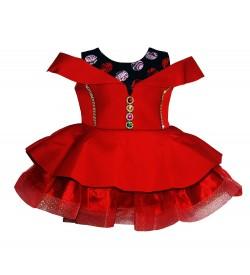 Latest Baby Kids Girls Red Dress - 0025