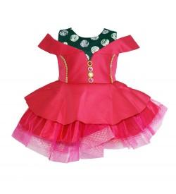Latest Baby Kids Girls Pink  Dress - 0026