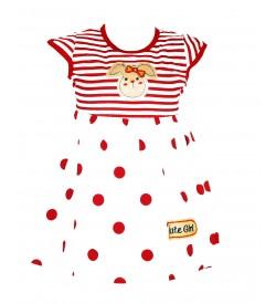 Grace Dresses White Red Print Kids Girls Dress - 0027