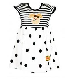 Grace Dresses White Blue Print Kids Girls Dress - 0030