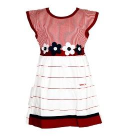 Grace Dresses White Red Flower Design Kids Girls Dress - 0033