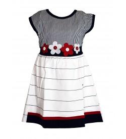 Grace Dresses White Flower Design Kids Girls Dress - 0037