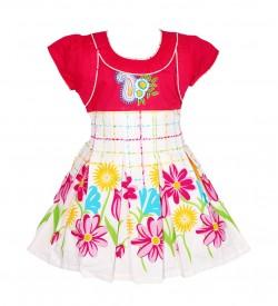 RD Rafique Kids Girls Pink Cotton Dress - 0070
