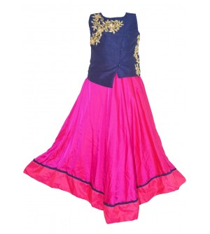 Zity Ztyle Blue, Strawberry Frock Dress For Kids Girls - 0176