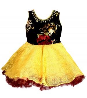 Pintu Kids Girls Dress ( Maroon ) - 0186