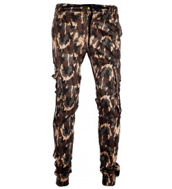 LOGIN Multi Colour Army Print Joggers with Elasticated Waist Track Pant For Mens- 1612