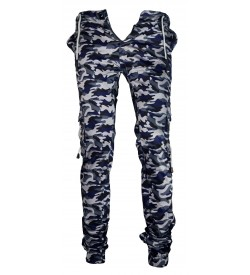LOGIN Camouflage Print Joggers with Elasticated Waist Track Pant