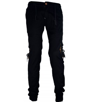 LOGIN Black Army Print Joggers with Elasticated Waist Track Pant For Mens- 1632