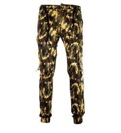 LOGIN Multi Colour Army Print Joggers with Elasticated Waist Track Pant For Mens- 1636