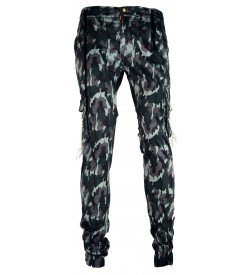LOGIN Multi Colour Army Print with Elasticated Waist  Track Pant For Mens-1640