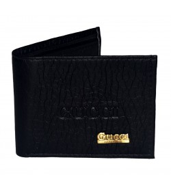 Gucci Mens Two Fold Wallet 6 Card Slots ( Black )