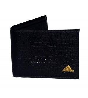 Adidas Mens Two Fold Wallet 4 Card Slots,Black