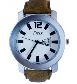 Fizix Fastrack Look Tan Strap Analog Day & Date Watch For Men's-2083