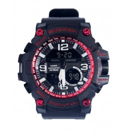 CASIO G-SHOCK Twin Sensor Quartz Movement Analogue-Digital Black Dial Sports Watch Men's & Boys - 2124