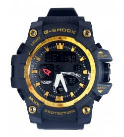 CASIO G-SHOCK Twin Sensor Quartz Movement Analogue-Digital Black Dial Sports Watch Men's & Boys - 2128