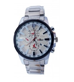 Forest Silver Stainless Steel Watch For Men's With Date - 2134