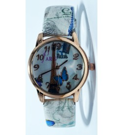 ARS Paris Butterfly L.Sandal Leather Watch For Women's