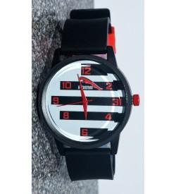 TIFA POMA White Dial Black Strap Watch For Men's