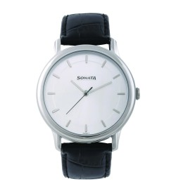 Sonata Sleek Silver Dial Analog Watch for Men