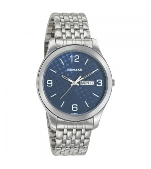 Blue Dial Stainless Steel Strap Watch
