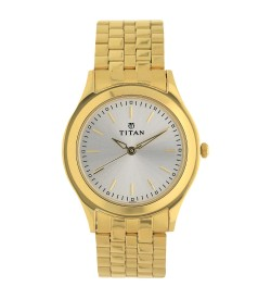 Titan Karishma Silver White Dial Analog Watch for Men