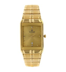 Titan Golden Dial Analog Watch for Men